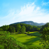View of the 17th green on the Bald Mountain Course at Rumbling Bald Resort on Lake Lure