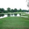 A view from a tee at Lake Winds Golf Course