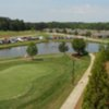 A view of the course from the balcony at River Landing at Sandy Ridge
