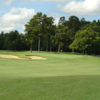 A view of green #1 at Oak Hollow Golf Course