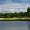 Water comes into play on several holes at Bermuda Run Country Club