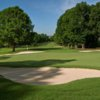 View of a green and bunkers at Bermuda Run Country Club