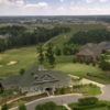 Aerial view of the clubhouse at Skybrook Golf Club