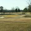 A view of a hole protected by sand traps at Cedarbrook Country Club