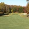 A fall view of a fairway at Bryan Park
