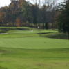 A view of two greens at Iron Play Golf Course