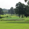 A view of the 2nd green at River Bend YMCA Golf Course