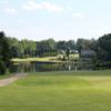 View of the lake at 18th hole from the Greensboro National Golf Club
