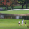 A view of a hole with water coming into play at Blowing Rock Country Club