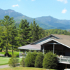 A view of the clubhouse at Mount Mitchell Golf Club