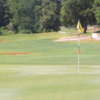 A sunny day view of a hole at Roanoke Country Club