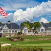 A vsunny day view of a green at Trump National Golf Club Charlotte.