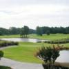 A view of the pond fronting the 18th hole at Panther's Run from Ocean Ridge Plantation.