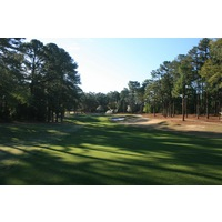 The fourth hole at Pinehurst No. 1 plays a par 5, 466 yards from the back tees.